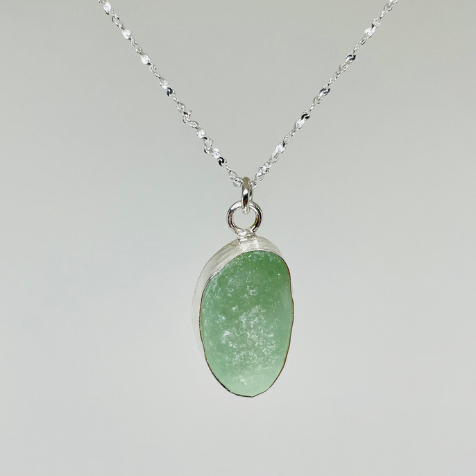 Cool Seafoam Green Seaglass Pendant