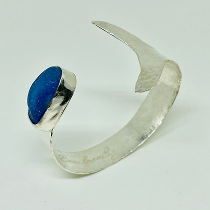Mermaid's Tail Cuff with Blue Seaglass