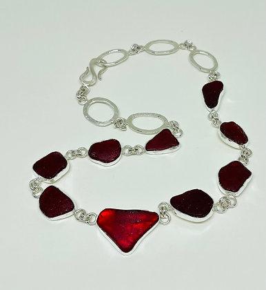 Lady in Red Multi-bezel necklace