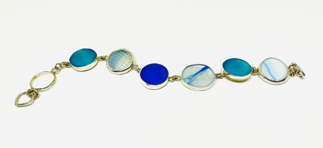 The Ohajiki in Blues Bracelet
