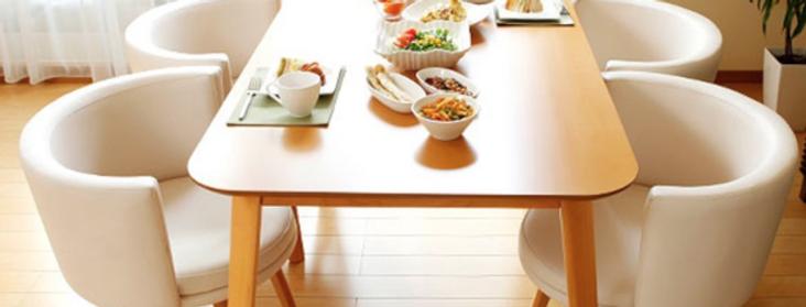 日式實木方形/長形餐桌餐椅E102-1021