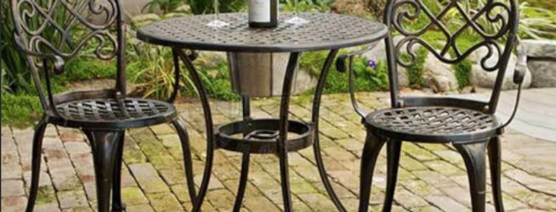 歐式戶外金屬餐桌餐椅E120-1023