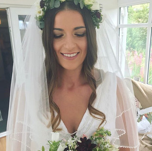 nautral wedding makeup in shropshire