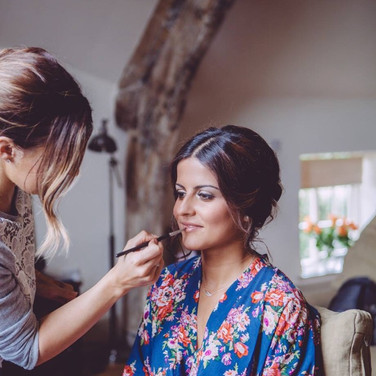 Wedding makeup in Shropshire