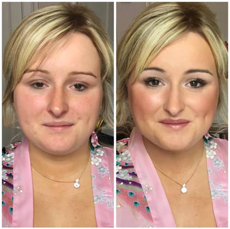 Bridal makeup in Powys, Wales