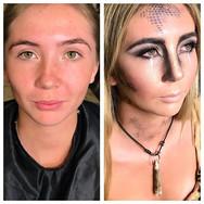 media makeup, fancy dress