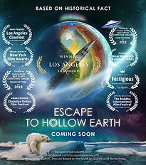 Escape To Hollow Earth Poster.