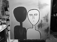 """""""shadow"""" Acryliconcanvas"""