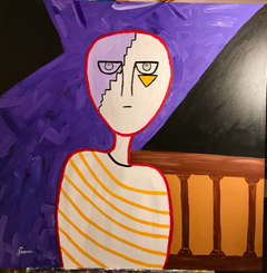 """The witness"" Acrylic on canvas 80X80 cm."