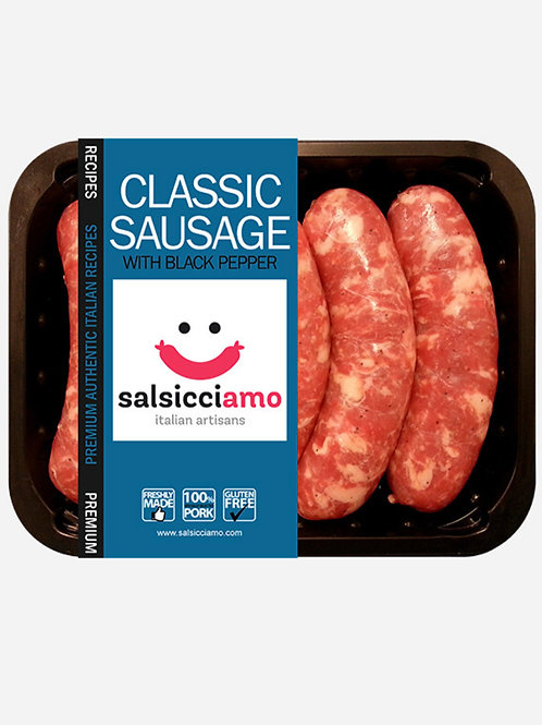 Salsicciamo Traditional Classic with Black Pepper 500g