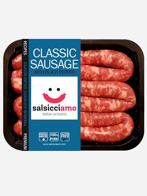 Salsicciamo Luganega Classic with Black Pepper 400g