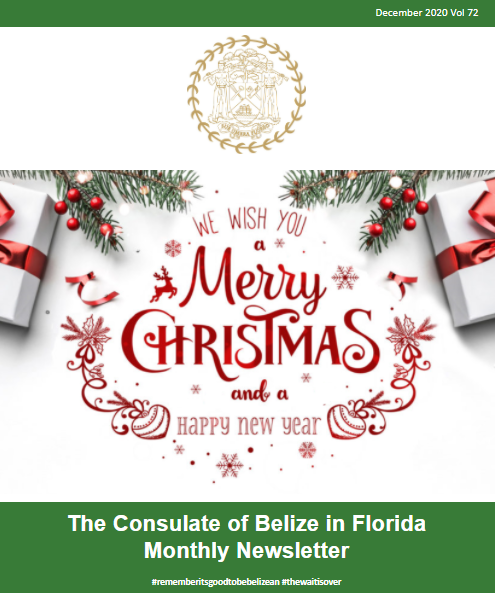 Consulate of Belize in Florida e-Newsletter, December Edition