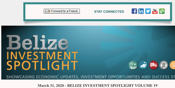 Belize Investment Spotlight, March (2020)