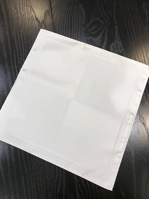 シルク100%ハンカチーフ ホワイト