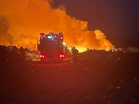 ЯВНЫЙ ПОДЖОГ: В Вулканештах неизвестные лица подожгли мусорную свалку