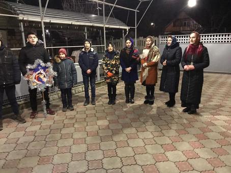 Прихожане православного храма поздравили примара Вулканешт с Рождеством Христовым