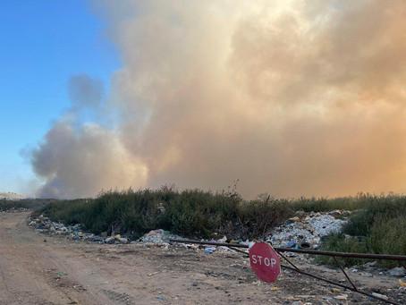К утру 17 августа пожар на мусорной свалке в Вулканештах локализовали