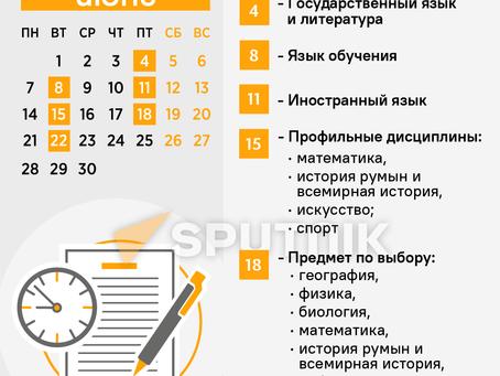 БАК-2021: полное расписание экзаменов в Молдове