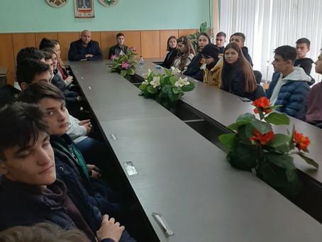 В примарии г.Вулканешты прошел урок гражданского воспитания для учеников теоретического лицея