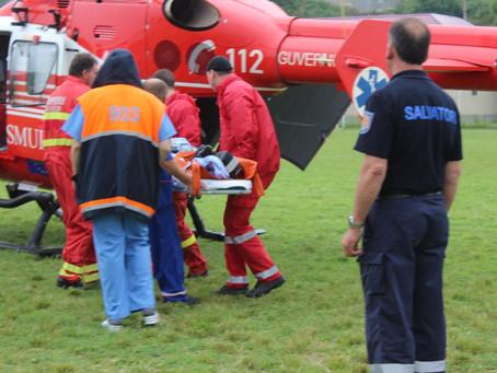 Вертолет SMURD доставивший больную жительницу города в Кишинев потерпел крушение. Все члены экипажа