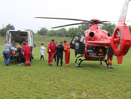 Вертолет SMURD доставил больную жительницу города в Кишинев