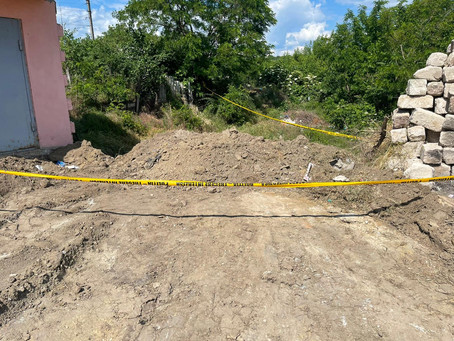 В городе Вулканешты произошел обвал грунта
