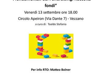 I fondamentali del Fundraising - formazione gratuita: Venerdì 13 settembre, Vezzano - Circolo Apeiro