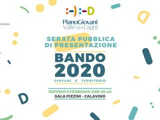 Presentazione Bando 2020: 6 febbraio a Calavino!