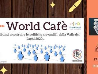 World Cafè per costruire le politiche giovanili 2020 in Valle dei Laghi!
