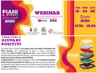 Piani a Strati 2020: 3 appuntamenti online!