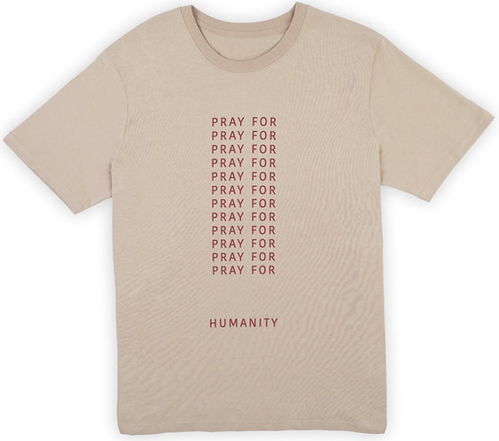 """PRAY FOR"" SAND T-SHIRT"