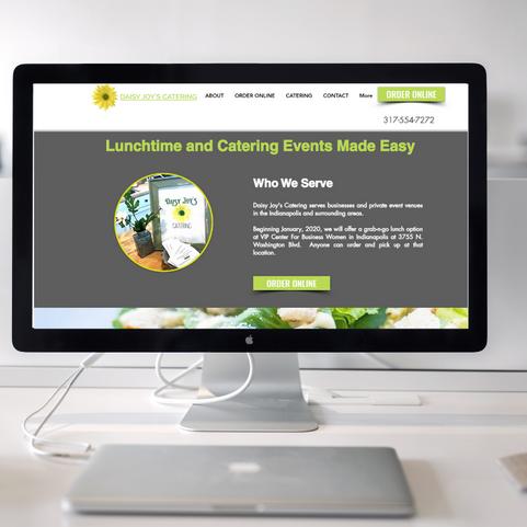 Daisy Joy Catering Website Design