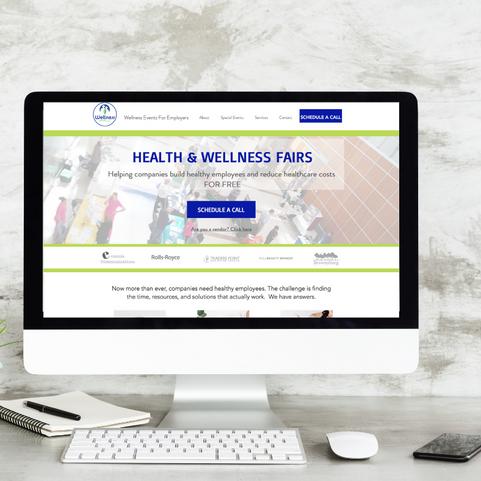Health and Wellness Events Website Design