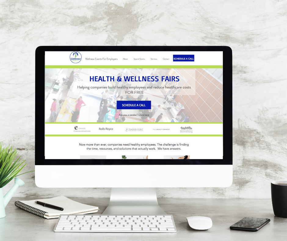 Health and Wellness Events Website Design
