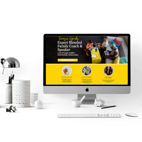 Author Public Speaker Website Design