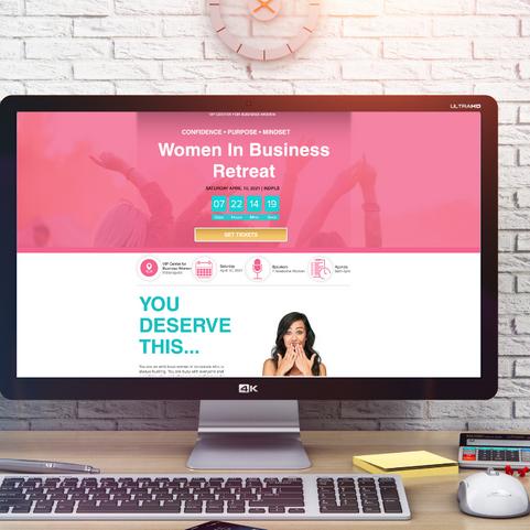 Women's Conference Event Landing Page Website Design