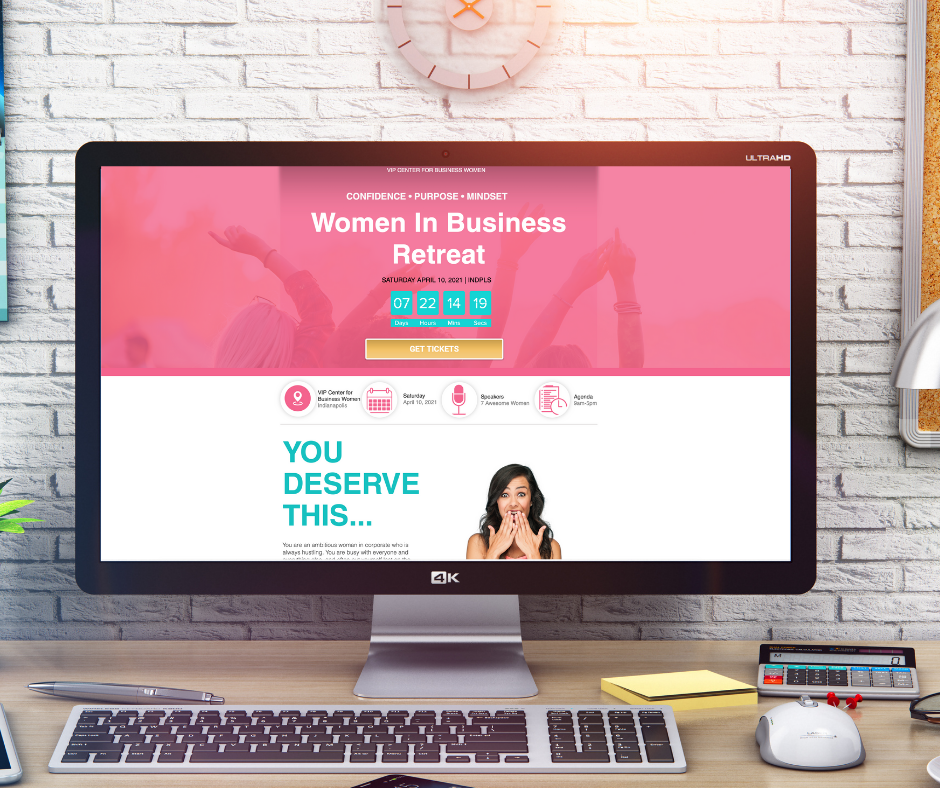 Women's Conference Event Landing Page Website Design