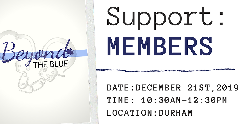MEMBERS Peer Support: DURHAM REGION