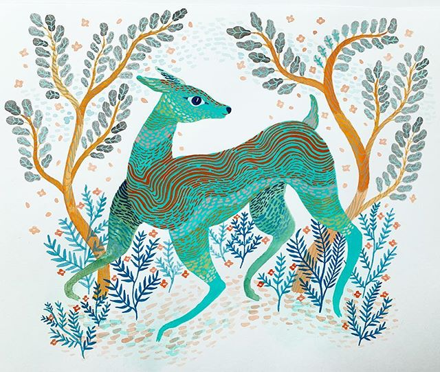 """Happy Springtime Deer"""