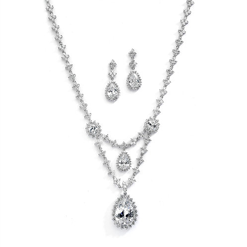 Jolie Bridal Necklace and Earrings Set