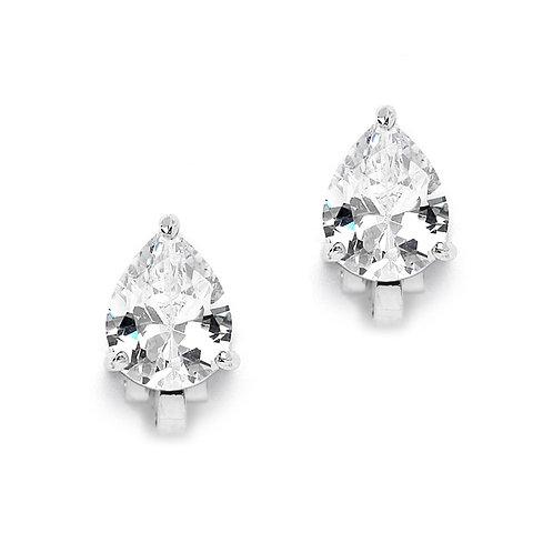 2.00 Ct. Cubic Zirconia Pear Shape Clip-On Earring