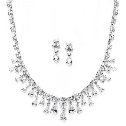 Monroe Bridal Necklace and Earrings Set