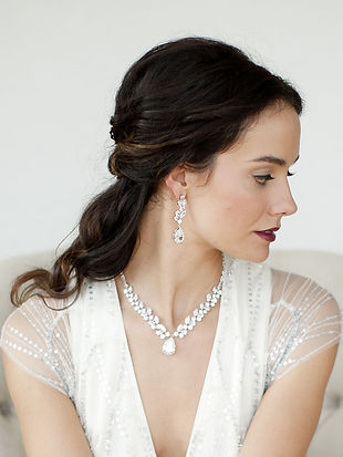 Mariell Bridal Necklace and Earrings Set from Pink Beauty Bridal