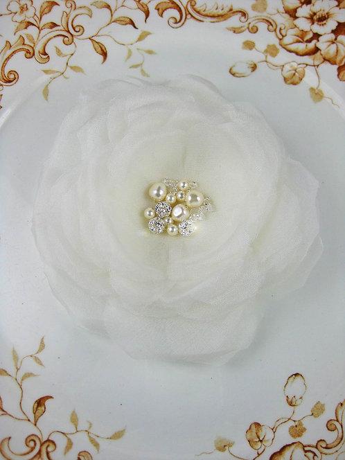 Grace Bridal Hair Flower- Ivory Sample