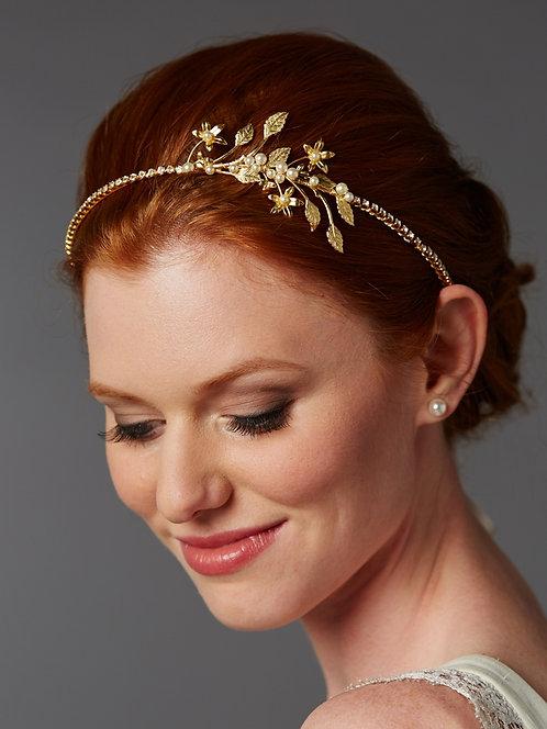 Hestia Bridal Headband- Gold Sample