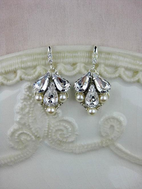 Abbey Small Bridal Earrings