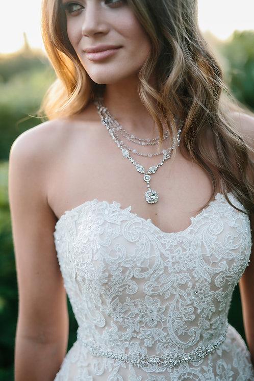 Bordeaux Bridal Statement Necklace