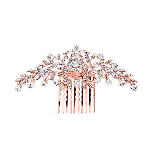 Le Fleur Bridal Hair Comb- Rose Gold Sample