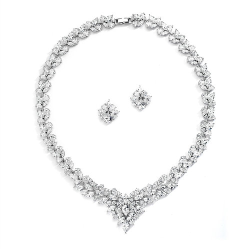 Kelly Bridal Necklace and Earrings Set