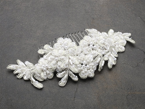 Beaded Lace Hair Comb